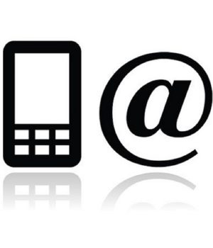14797096 - contact black icons set - mobile, phone, email, envelope